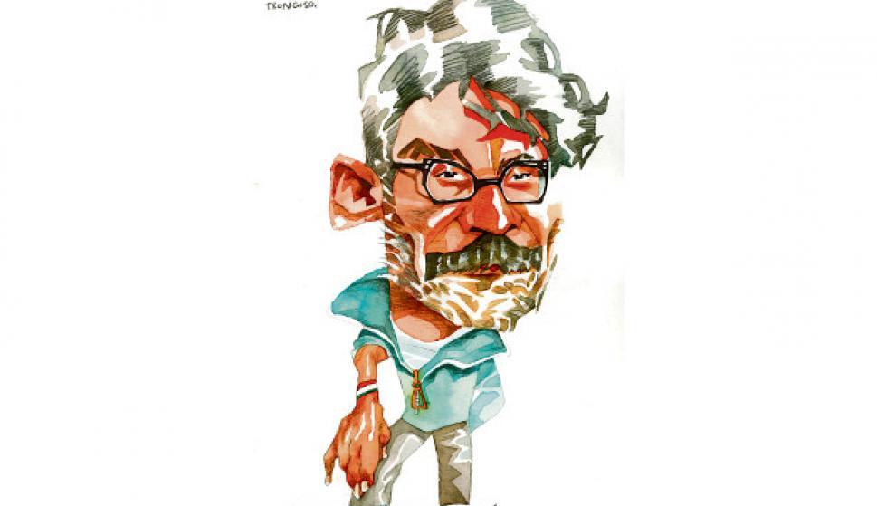 César Troncoso. Dibujo de Ombú