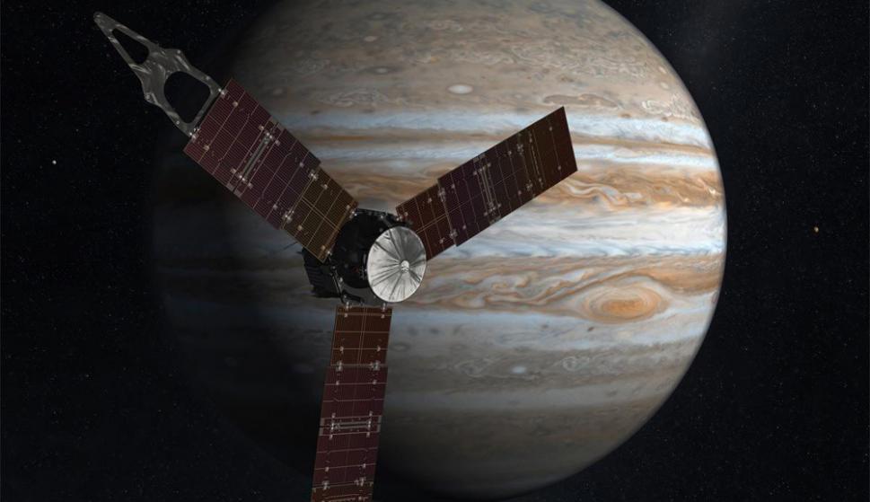 Durante 20 meses (hasta 2018), Juno tiene previsto dar 37 vueltas a la órbita de Júpiter. Foto: NASA