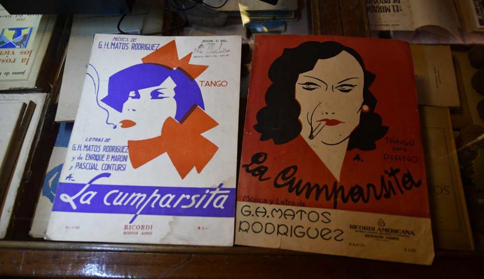Las partituras de La Cumparsita publicadas a poco de su estreno.