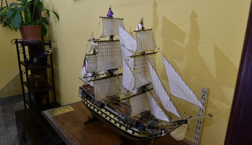 Construir un barco a pequeña escala puede llevar desde meses hasta años. Foto: F. Ponzetto