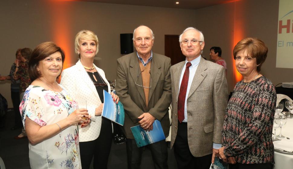 Silvia Verdera, Graciela Tacchini, Orlando Virgili, Aníbal Martirena, Alba León.