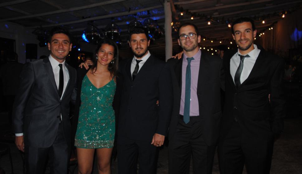 Marcos Nicodela, Noelia Laport, Maximiliano Carmone, Fernando Menes, Eduardo Alemán.