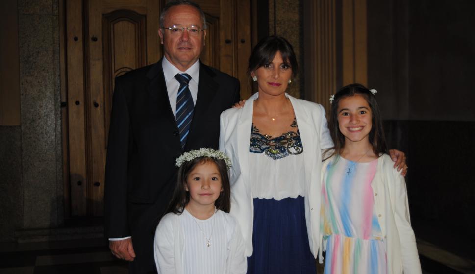Fernando y Sofía Schneck, Rosanna Ieno, Francesca Schneck.
