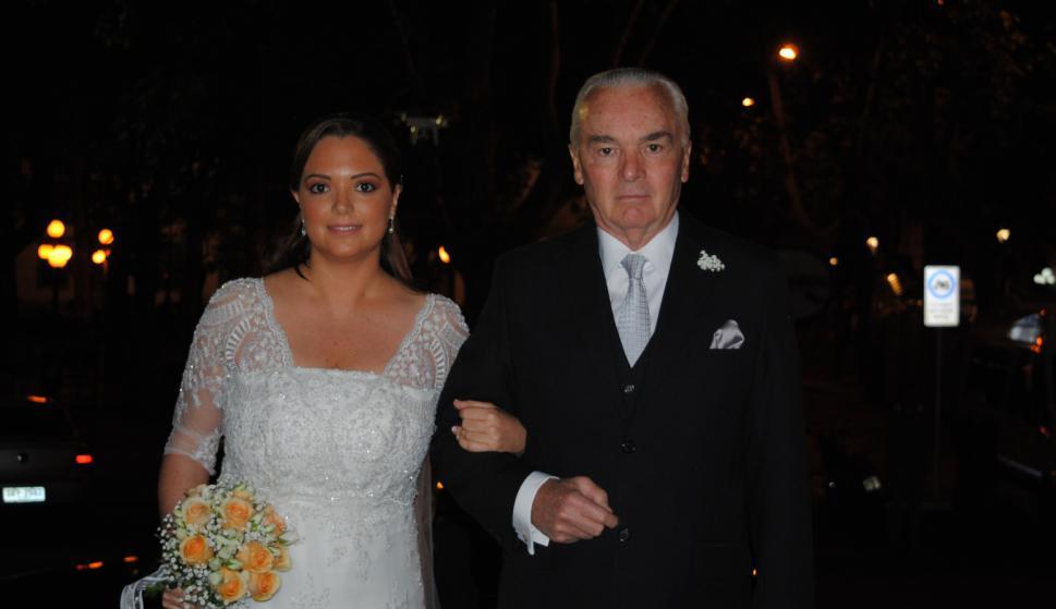 Florencia Lerma, padrino Armando Lerma.