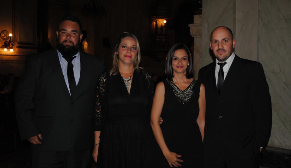 Javier Martínez, Lorena Gutiérrez, Dayana Cabrera, Andrés Espinosa.