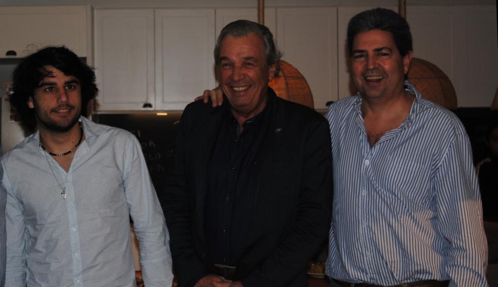 Augusto Heber, Mateo Campomar, Carlos Heber.