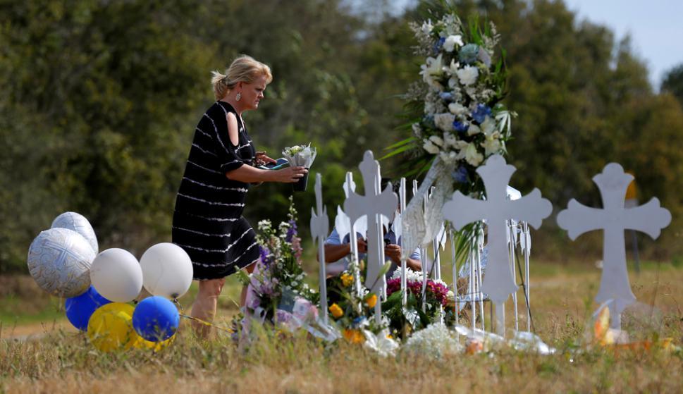 Sutherland Springs: el pueblo de Texas de apenas 500 habitantes vivió el domingo su mayor tragedia. Foto: Reuters