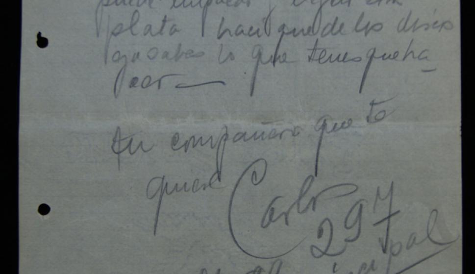 Las cartas de Gardel que serán rematadas estaban dirigidas a su amigo José Razzano. Foto: Gentileza Remates Corbo