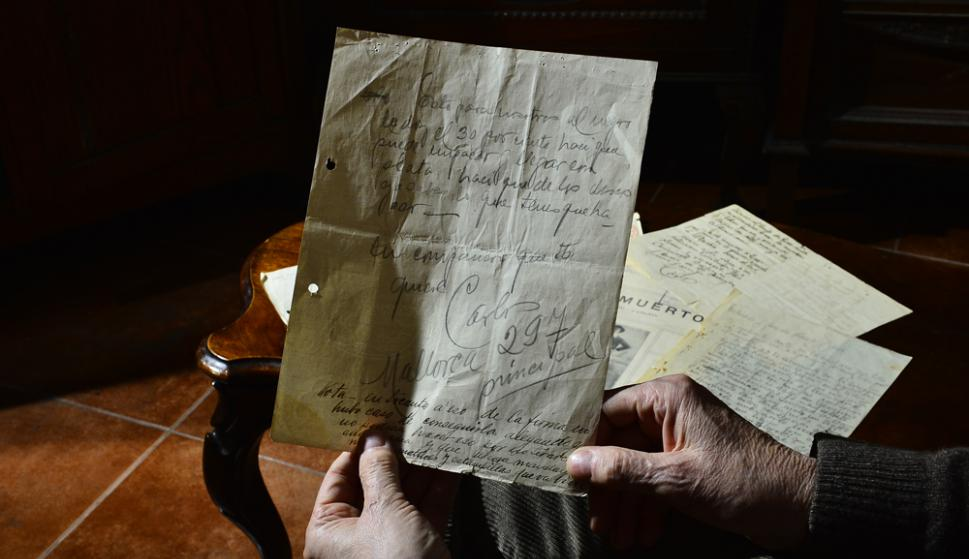 Una de las cartas de Gardel que será rematada. Foto: G. Pérez