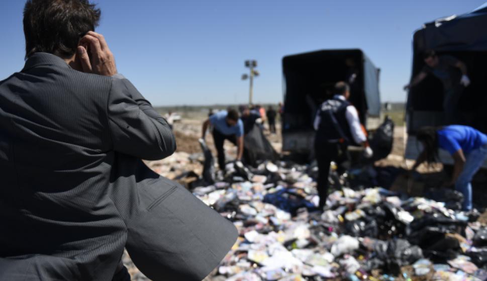 La destrucción se realizó en la Usina Felipe Cardoso. Foto: IMM