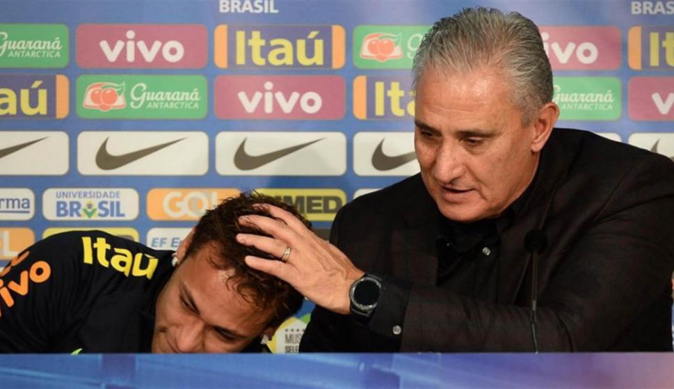 Las palabras de Tité hicieron llorar a Neymar. Foto: La Nación / GDA