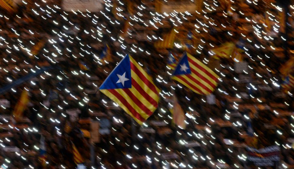 Masiva manifestación en Barcelona. Foto: Reuters.