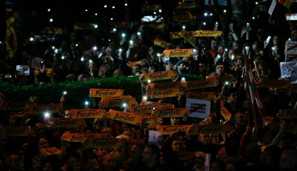 Hay 10 políticos independentistas en prisión preventiva. Foto: AFP.