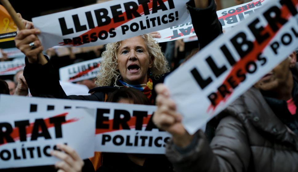El independentismo crece en las encuestas de cara a las elecciones regionales. Foto: AFP.