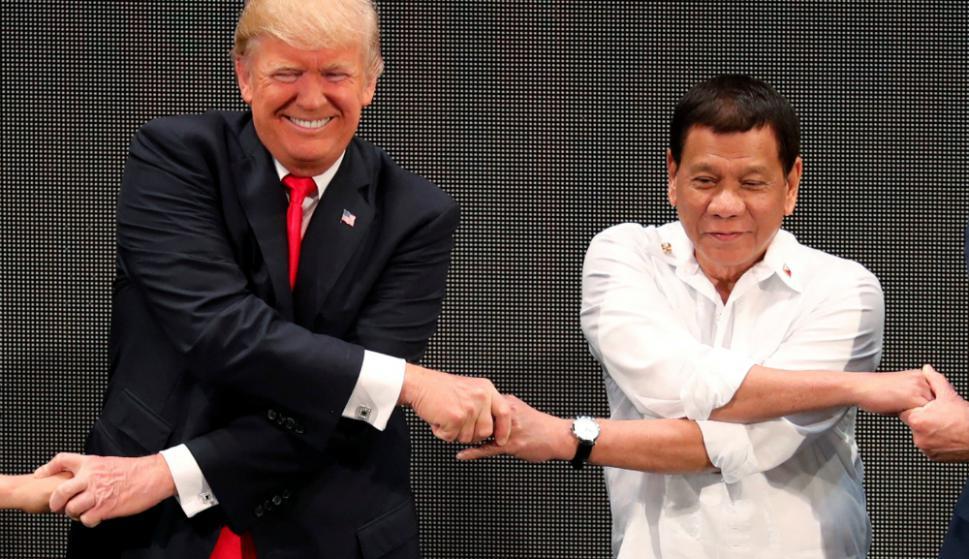 """Socios: Trump y Duterte en Manila: """"tenemos muy buena relación"""". Foto: Reuters"""
