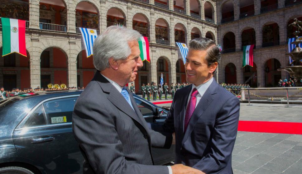 Enrique Peña Nieto recibe a Vázquez en México. Foto: Presidencia