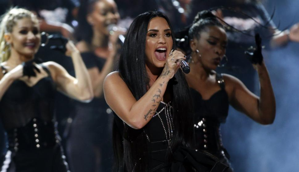 Demi Lovato en los American Music Awards. Foto: Reuters