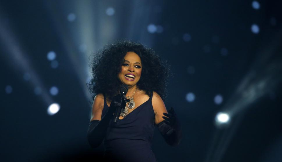 Diana Ross en los American Music Awards. Foto: Reuters