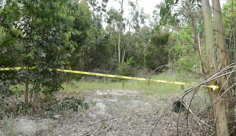 El lugar en donde estaba enterrado el cuerpo de Brissa. Foto: Marcelo Bonjour
