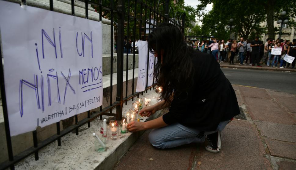 Cientos se movilizaron en 18 de Julio por el crimen de Brissa. Foto: Fernando Ponzetto
