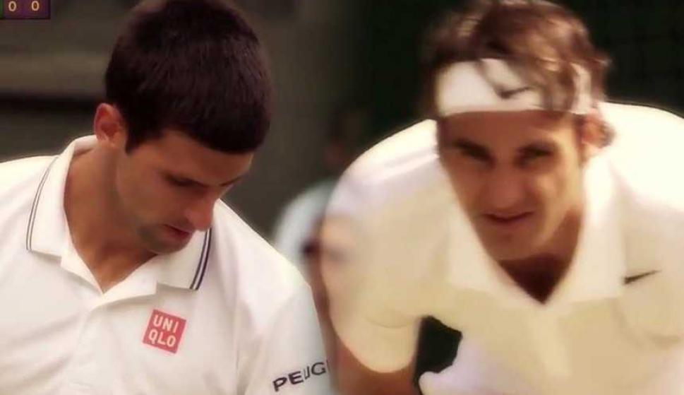 El video viral de Novak Djokovic y Roger Federer con la nueva regla del tenis. Foto: captura