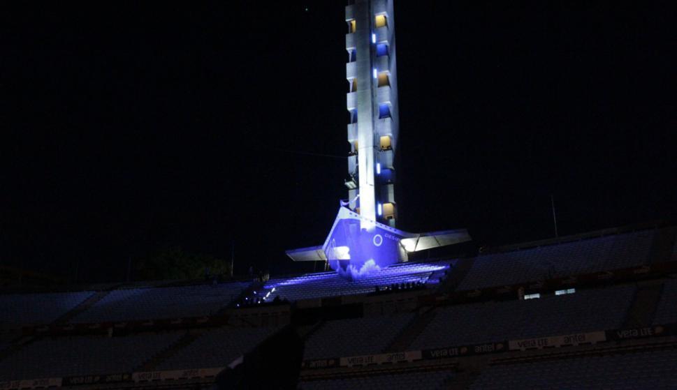Ensayo general de El Delirio en el Estadio Centenario. Foto: Gabriel Rodríguez