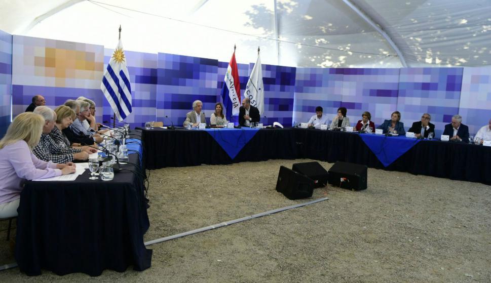 Consejo de ministros en Pirarajá. Foto: Darwin Borrelli.