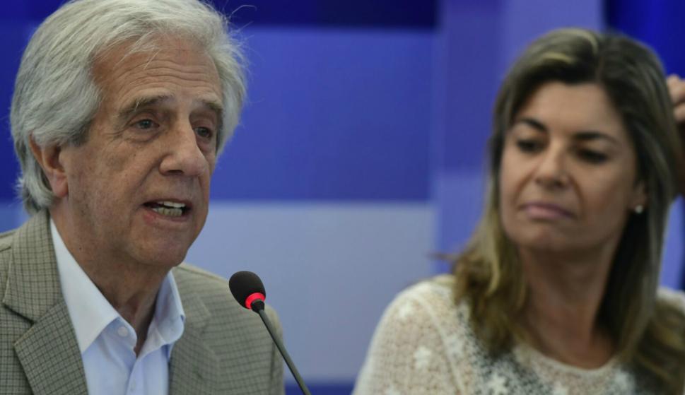 Vázquez en Consejo de ministros en Pirarajá. Foto: Darwin Borrelli.