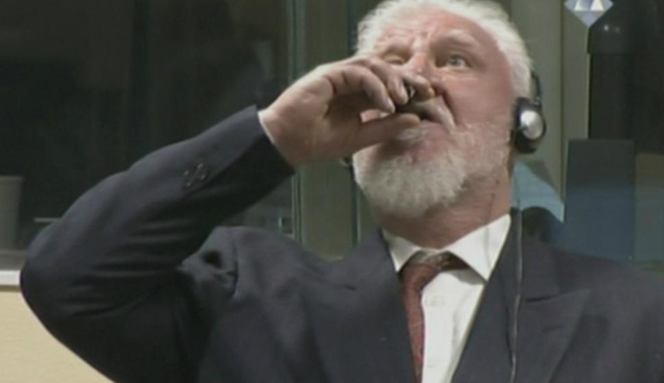Slobodan Pranjak afirma haber bebido veneno en La Haya. Foto: Captura.