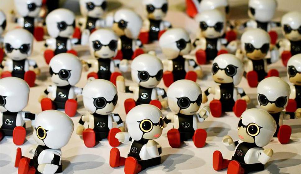 Pocobee, el robot para personas mayores que capta emociones. Foto: EFE