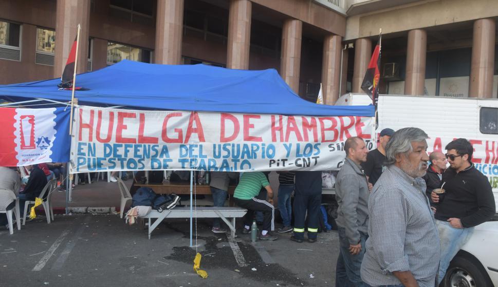 Huelga de hambre de los trabajadores del gas. Foto: Francisco Flores