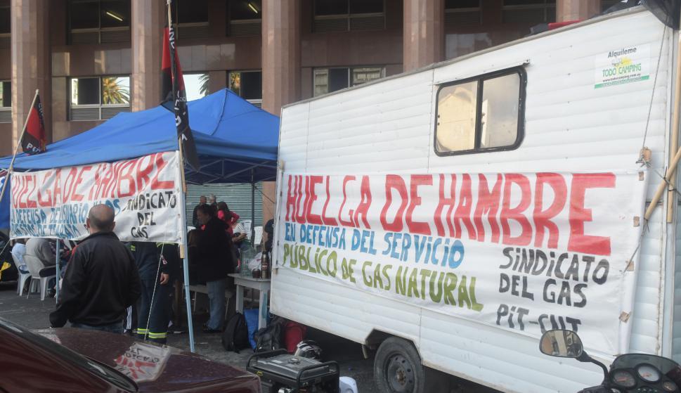 Protestan en Plaza Independencia. Foto: Francisco Flores