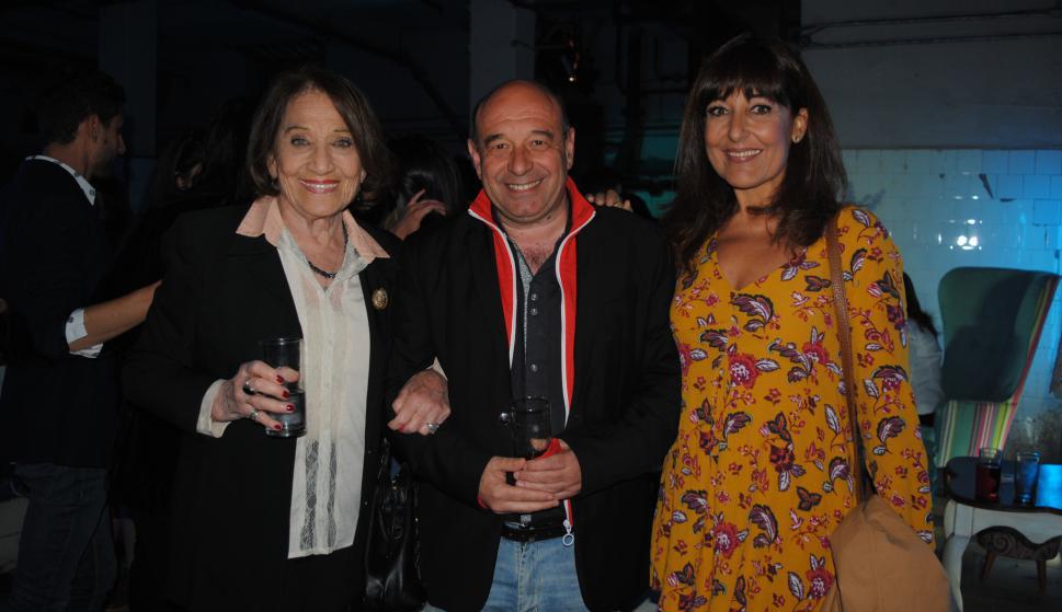 Cristina Morán, Hugo Giachino, Carmen Morán.