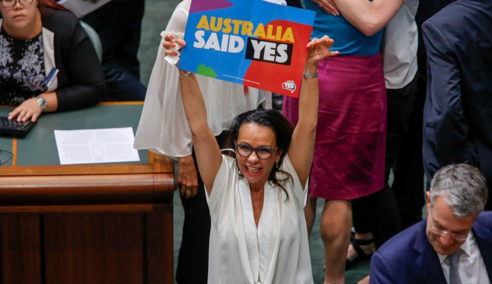 Australia legalizó el matrimonio homosexual. Foto: AFP