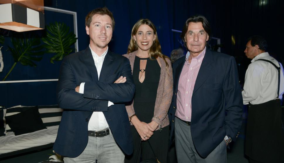 Mario Taglioretti, María José y Jorge Caponi.