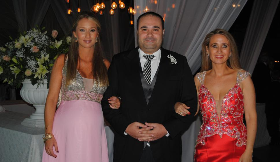 Valentina Irrazabal, Dardo y Florencia Quiro Saldaña.