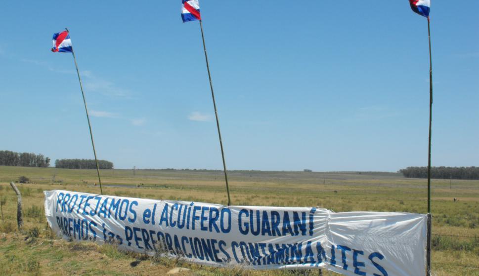 Manifestación contra el fracking en palomas. Foto: Luis Pérez.