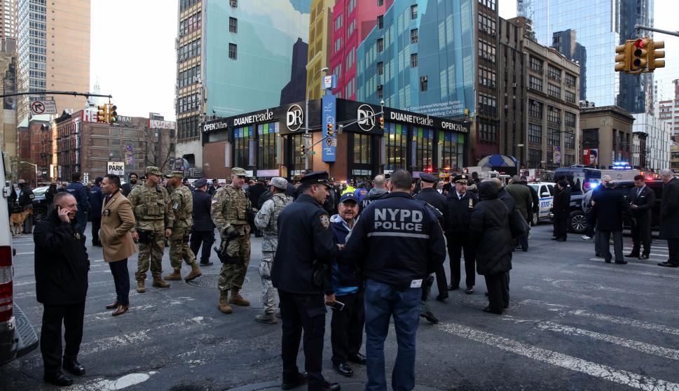 Explosión en NY. Foto: Reuters
