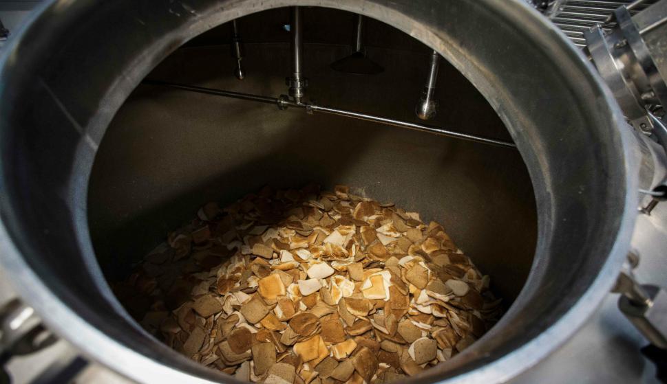 Lugar donde se depositan los mendrugos de pan. Foto: AFP.