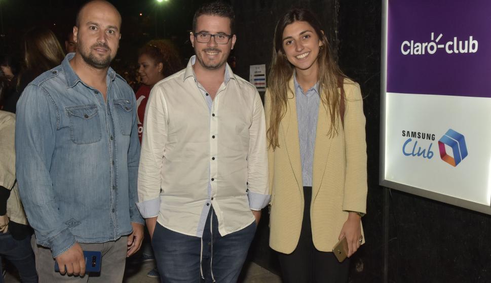 Nicolás Vargas, Sebastián Giovanelli, Verónica Comas.