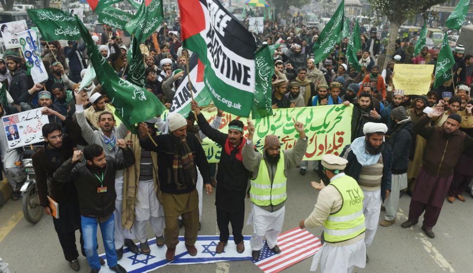 La tensión crece en Medio Oriente tras el anuncio de Trump sobre Jerusalén. Foto: AFP