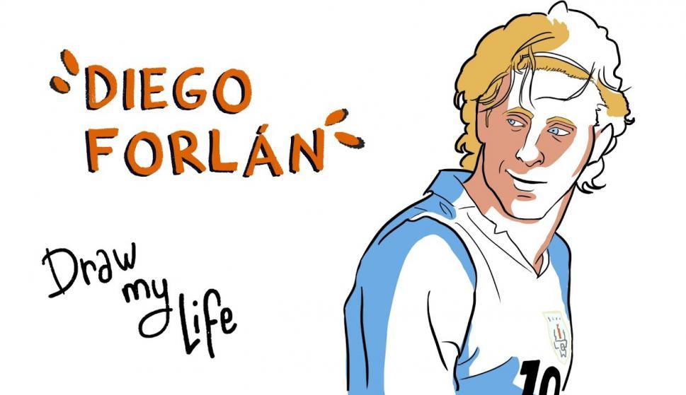 Draw my life, Diego Forlán. Foto: Campeones
