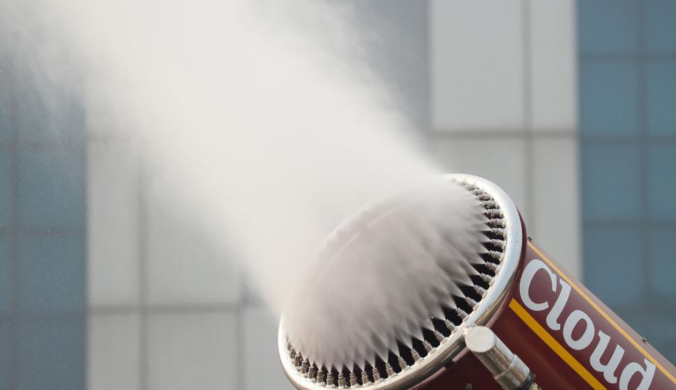 El vaporizador de Nueva Delhi. Foto: AFP