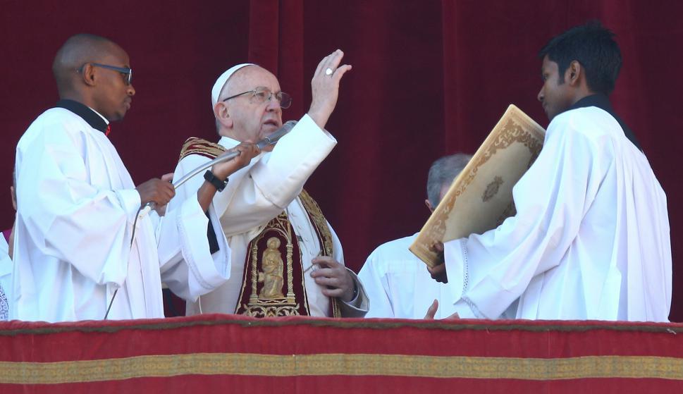 Papa Francisco en la misa de Navidad. Foto: Reuters
