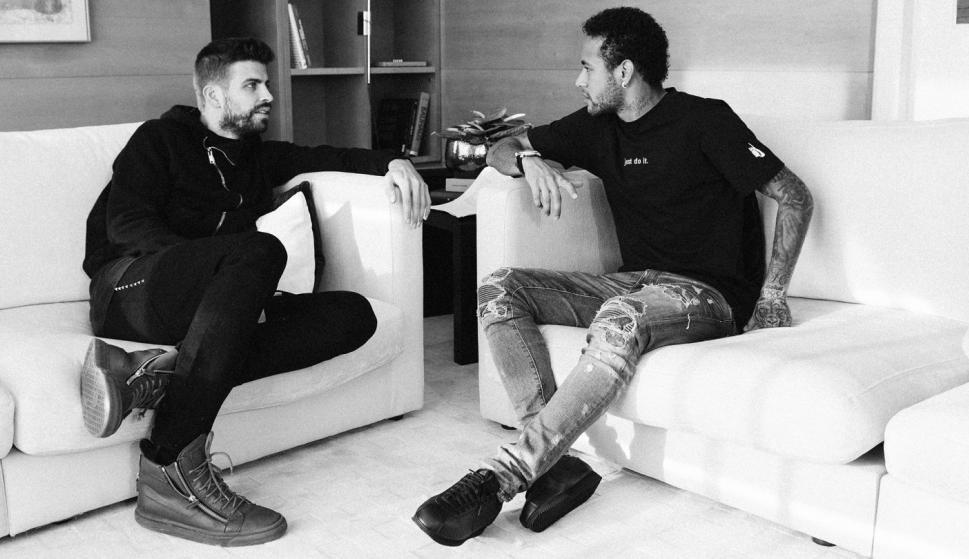 Neymar y Pique entrevista