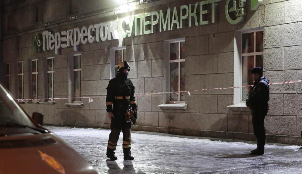 Explosión en un supermercado en Rusia. Foto: Reuters