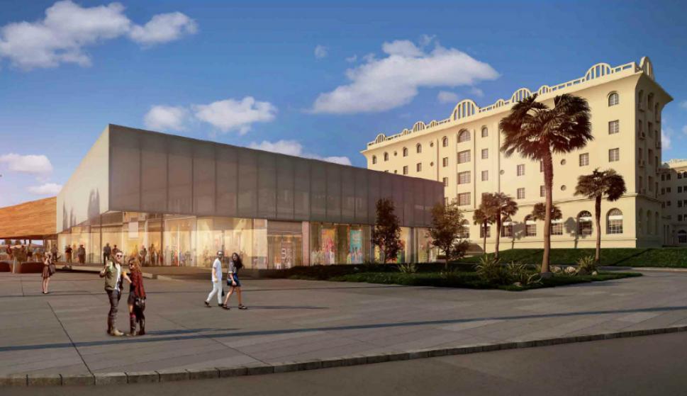 En el ala Este, en las afueras del Argentino Hotel, se instalará nueva estructura. Foto: Gentileza Estudio Gómez Platero