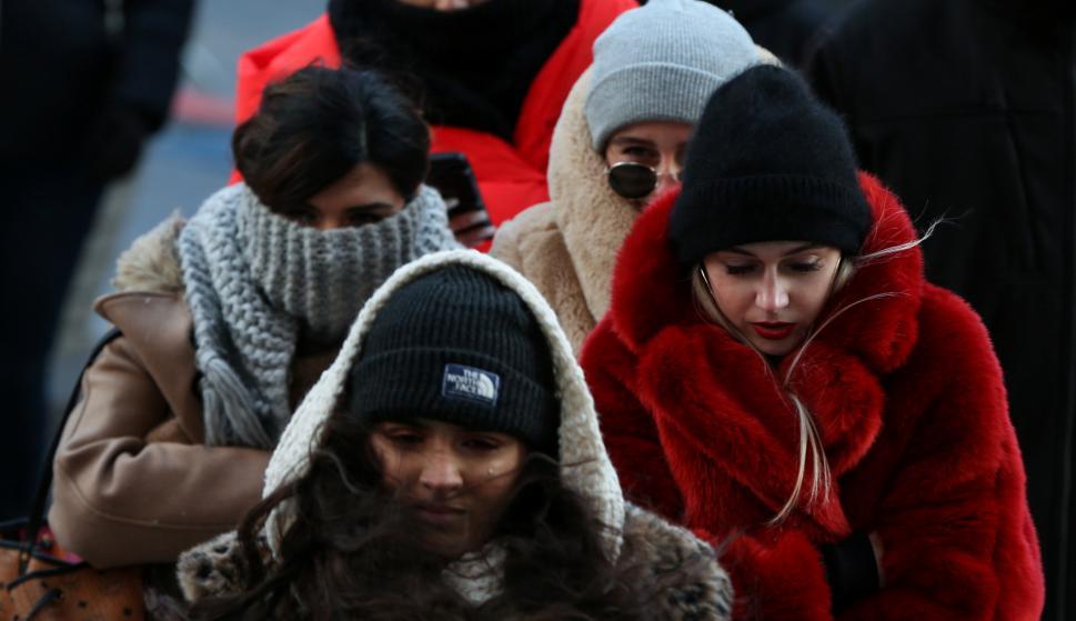 Ola de frío en el Este de EE.UU. Foto: Reuters