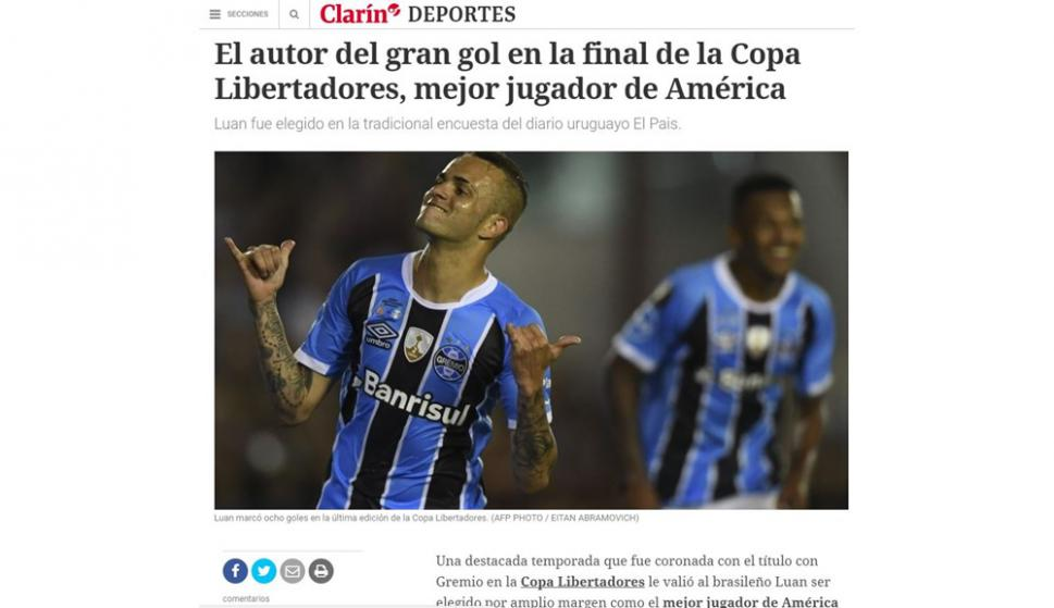 Los portales se hicieron eco del triunfo de Luan en la encuesta de El País