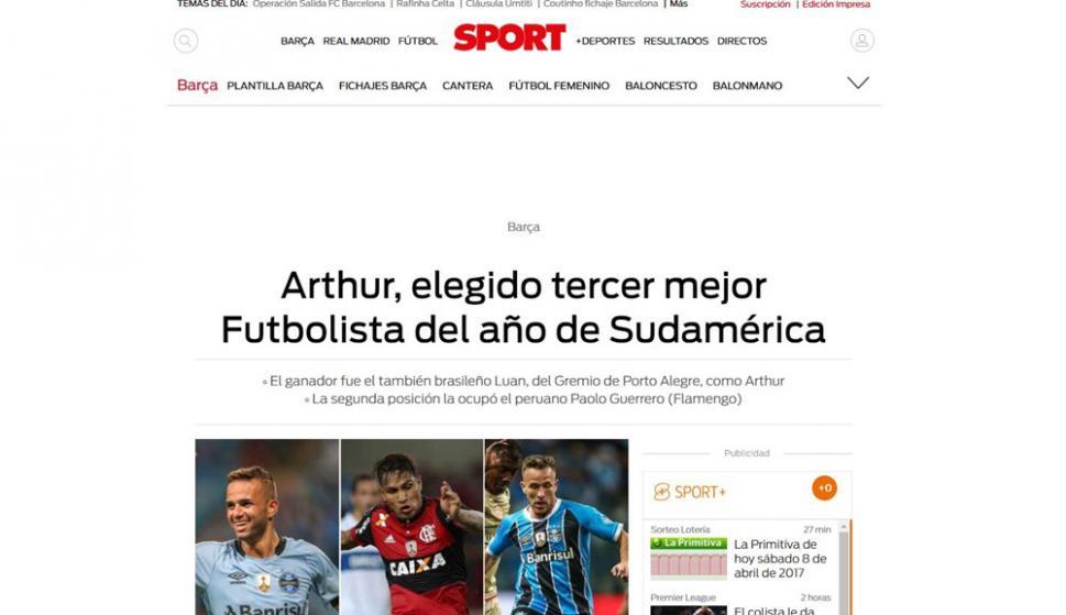 Luan conquistó las portadas de los diarios de América - Fútbol ...